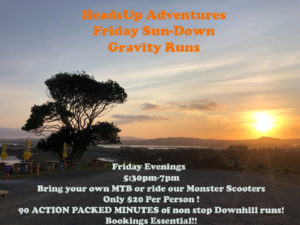 Friday Sun -Down Gravity Runs